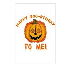 Happy Boorthday Halloween Birthday Postcards (Pack