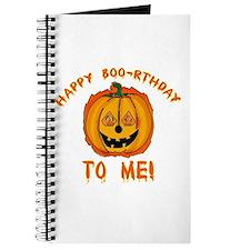 Happy Boorthday Halloween Birthday Journal
