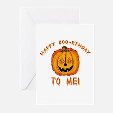 Happy Boorthday Halloween Birthday Greeting Cards