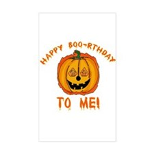 Happy Boorthday Halloween Birthday Decal
