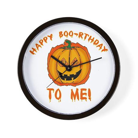 Happy Boorthday Halloween Birthday Wall Clock