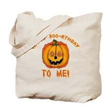 Happy Boorthday Halloween Birthday Tote Bag