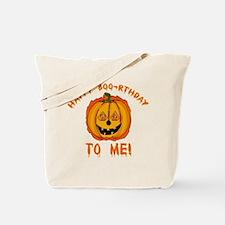 Happy Boorthday Halloween Birthday Tote Bag
