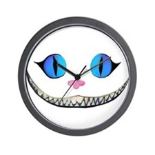 Invisible Cheshire Cat Wall Clock