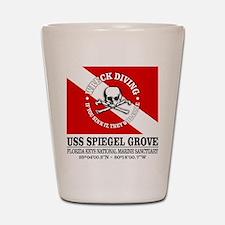 USS Spiegel Grove Shot Glass