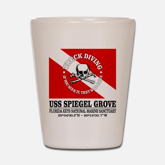 USS Spiegel Grove Shot Glass