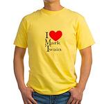 Mark Twain Yellow T-Shirt