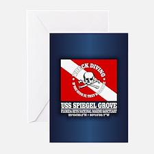 USS Spiegel Grove Greeting Cards
