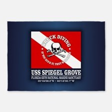 USS Spiegel Grove 5'x7'Area Rug