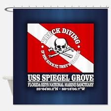 USS Spiegel Grove Shower Curtain