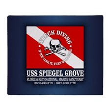 USS Spiegel Grove Throw Blanket