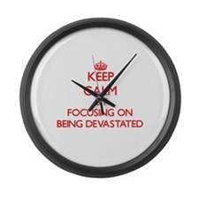 Being Devastated Large Wall Clock