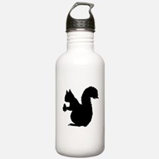 Squirrel Silhouette Water Bottle