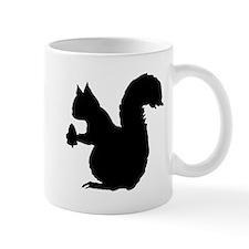 Squirrel Silhouette Mugs