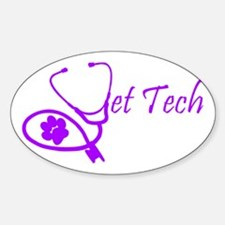 vet tech stethoscope design Decal