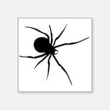 Black Widow Spider Silhouette Sticker