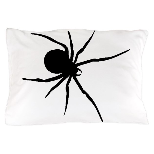 Black Widow Spider Silhouette Pillow Case by ...