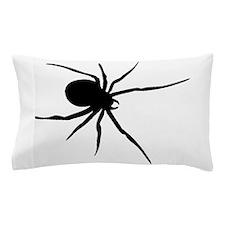 Black Widow Spider Silhouette Pillow Case