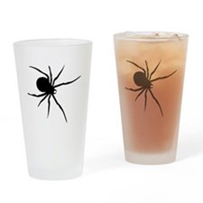 Black Widow Spider Silhouette Drinking Glass