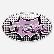 retro cartoon vet tech Decal