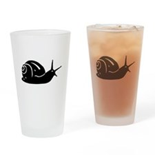 Snail Silhouette Drinking Glass