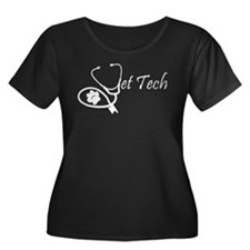 vettech stethoscope white Plus Size T-Shirt