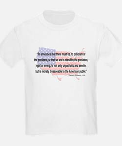 Teddy Roosevelt - 1918 Quote T-Shirt