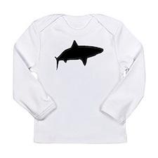 Tiger Shark Silhouette Long Sleeve T-Shirt