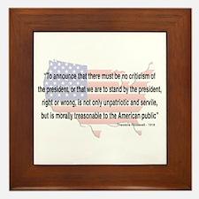 Teddy Roosevelt - 1918 Quote Framed Tile