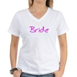 Casual Bride Women's V-Neck T-Shirt