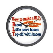 Bacon How To Make a BLT Wall Clock