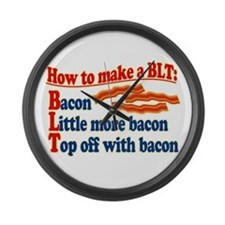 Bacon How To Make a BLT Large Wall Clock