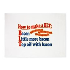 Bacon How To Make a BLT 5'x7'Area Rug