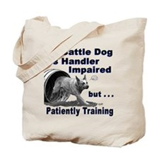 Cattle Dog Agility Tote Bag