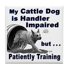 Cattle Dog Agility Tile Coaster