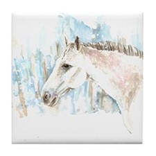 White Horse Tile Coaster