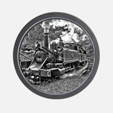 Narrow Gauge Railway Steam Train Engine Wall Clock