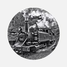 Narrow Gauge Railway Steam Train Ornament (Round)