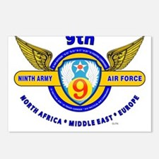 9TH ARMY AIR FORCE WORLD Postcards (Package of 8)