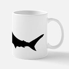 Hammerhead Shark Silhouette Mugs