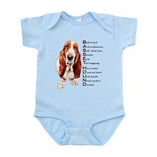 Cute Basset hound Infant Bodysuit