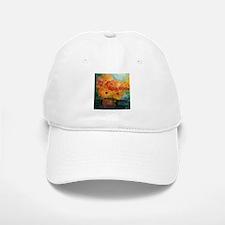 Autumn Flowers Artist Designed Baseball Baseball Baseball Cap