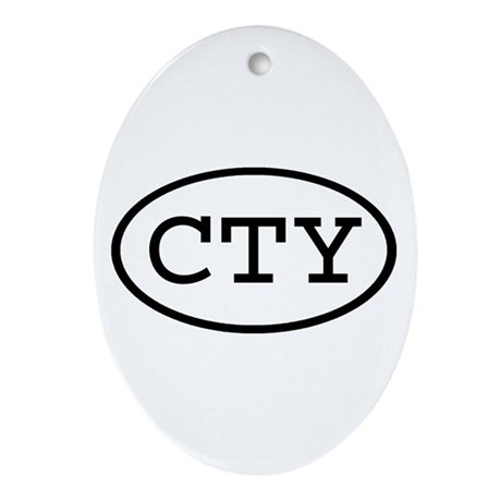 CTY Oval Oval Ornament
