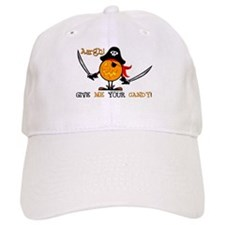 Halloween Pumpkin Pirate Baseball Cap