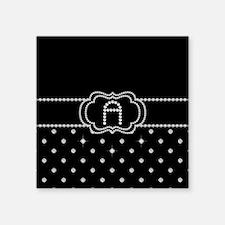 "DIAMOND INITIALS: A Square Sticker 3"" x 3"""