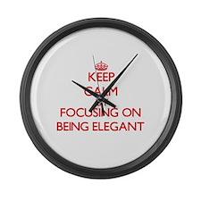 BEING ELEGANT Large Wall Clock