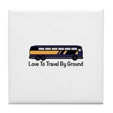Travel by Ground Tile Coaster