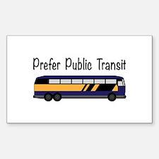 Prefer Public Transit Decal