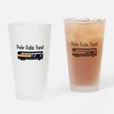 Prefer Public Transit Drinking Glass