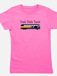 Prefer Public Transit Girl's Tee